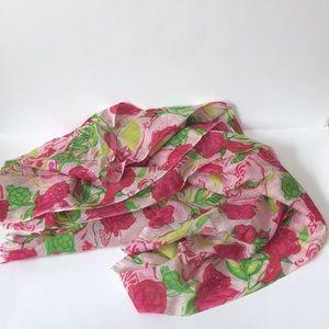 Lilly Pulitzer oblong scarf delta zeta DZ turtles